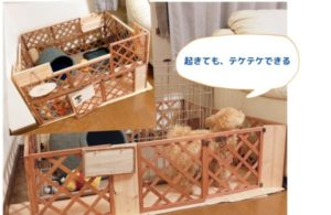 犬サークル手作り (木の温もり編)